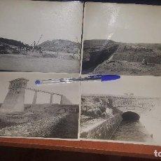 Fotografía antigua: 10 INTERESANTES ALBUMINAS OBRAS PRESA ARDISA, EMBALSE DE LA SOTONERA, CANAL DEL GALLEGOS, ARAGON. Lote 143829430