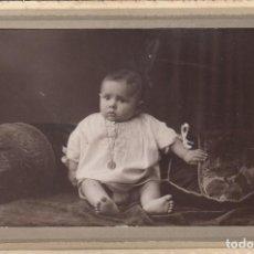 Fotografía antigua: NIÑO DE PRINCIPIO DE SIGLO XX. Lote 144254542