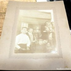 Fotografía antigua: ALCALA DE GUADAIRA, SIGLO XIX, PANADERIA DE RAFAEL ZAMBRUNO, 21X27 CMS. Lote 144389446