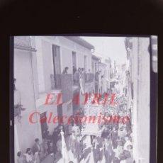 Fotografía antigua: VALENCIA O PROVINCIA - PROCESION - NEGATIVO EN CELULOIDE - AÑOS 1930-40. Lote 145047606