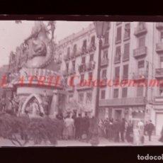Fotografía antigua: VALENCIA - FALLAS JOSÉ ANTONIO-DUQUE DE CALABRIA - NEGATIVO EN CELULOIDE - AÑOS 1940-50. Lote 145049518