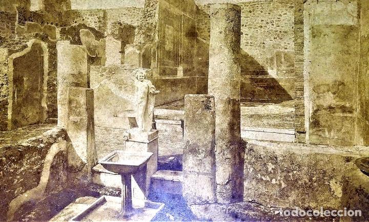 LA CASA DEL BALCONE PENSILE. AMAZONA FARNESE. FOTOGRAFÍA. GIACOMO BROGI. ITALIA. CIRCA 1880 (Fotografía Antigua - Albúmina)