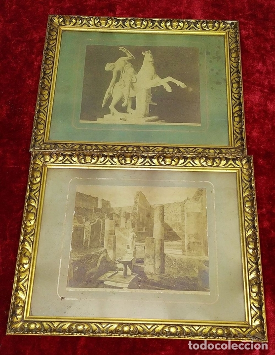 Fotografía antigua: LA CASA DEL BALCONE PENSILE. AMAZONA FARNESE. FOTOGRAFÍA. GIACOMO BROGI. ITALIA. CIRCA 1880 - Foto 2 - 145502614