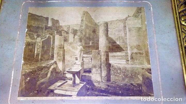 Fotografía antigua: LA CASA DEL BALCONE PENSILE. AMAZONA FARNESE. FOTOGRAFÍA. GIACOMO BROGI. ITALIA. CIRCA 1880 - Foto 3 - 145502614