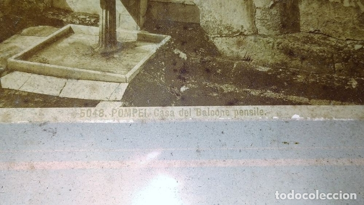 Fotografía antigua: LA CASA DEL BALCONE PENSILE. AMAZONA FARNESE. FOTOGRAFÍA. GIACOMO BROGI. ITALIA. CIRCA 1880 - Foto 5 - 145502614
