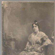 Fotografía antigua: FOTOGRAFIA ORIGINAL FALLERA AÑOS 20, FOTO J.LLOPIS VALENCIA, ...N. Lote 145690826