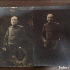 Fotografía antigua: ANTIGUA PAREJA FOTOGRAFIAS MILITAR FOTOGRAFO RENOM BARCELONA TIPO POSTAL AÑO 1919. Lote 146268182
