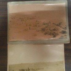 Fotografía antigua: IMPRESIONANTE PAREJA ANTIGUAS FOTOGRAFIA 9 BRIGADA INFANTERIA MANIOBRAS 1892 TARRAGONA. Lote 146269866