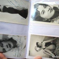Fotografía antigua - 79 FOTOGRAFÍAS DE ARTISTAS ESPAÑOLES DEDICADAS AÑOS 50 60 - 146531334