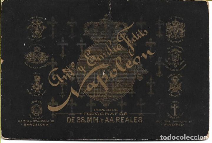 Fotografía antigua: Compañía fotográfica Napoleón - Albumina de lujo c/1900´s - 11x16,5 cm - BARCELONA - MADRID - Foto 2 - 146585874