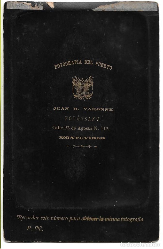 Fotografía antigua: Casa FOTOGRAFIA DEL PUERTO de Juan B Varonne - Albumina de lujo 11x16,5 cm - c/1890´s - MONTEVIDEO - Foto 3 - 146586190