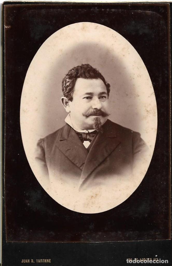Fotografía antigua: Casa FOTOGRAFIA DEL PUERTO de Juan B Varonne - Albumina de lujo 11x16,5 cm - c/1890´s - MONTEVIDEO - Foto 2 - 146586190