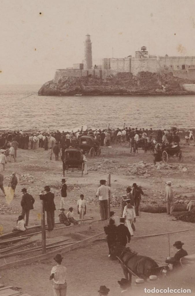 Fotografía antigua: Puerto de la Habana, Cuba. Hundimiento del Maine y bloqueo. 1898. Foto: Miquel Renom (1875-1950) - Foto 3 - 147208330