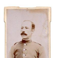 Fotografía antigua: FOTO CABINET - ESTUDIO FOTOGRÁFICO - FOTOGRAFÍA NUEVA. BARCELONA. MILITAR CABALLERÍA 1902. Lote 147229122