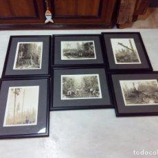 Fotografía antigua: LOTE DE 6 FOTOGRAFÍAS ANTIGUAS ENMARCADAS. CANADÁ. Lote 147296222