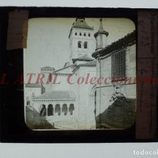 Fotografía antigua: SEGOVIA, SAN MARTIN Y PRISION - ANTIGUO CRISTAL PARA LINTERNA MAGICA - AÑOS 1890-1900. Lote 147495622