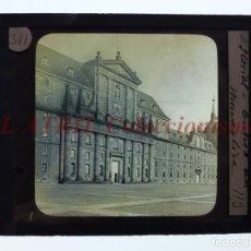 Fotografía antigua: EL ESCORIAL, VISTA - ANTIGUO CRISTAL PARA LINTERNA MAGICA - AÑOS 1890-1900. Lote 147496334
