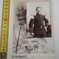Fotografía antigua: ANTIGUA FOTOGRAFIA DE UN SOLDADO, SIGLO XIX, G, DUVAND, AYL-15. Lote 147784318