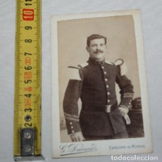 Fotografía antigua: ANTIGUA FOTOGRAFIA DE UN SOLDADO, SIGLO XIX, G, DUVAND, AYL-17. Lote 147784666