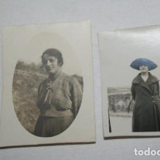 Fotografía antigua: 2 ANTIGUAS FOTOGRAFIAS DE UNA CHICA, PPIOS SIGLO XX, AYL-21. Lote 147785750