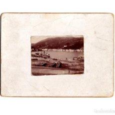 Fotografía antigua: SAN SEBASTIAN.- PUERTO 1897- MEDIDAS SOLO DE LA FOTOGRAFÍA 5,5 X 4 CM. Lote 147834710