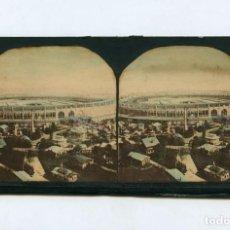 Fotografía antigua: PARÍS, EXPOSITION UNIVERSELLE DE 1867, ESTEREO ILUMINADA 8,5X17 CM.. Lote 148503806