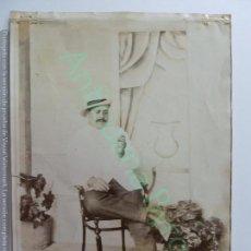 Fotografía antigua: FOTOGRAFÍA ANTIGUA ORIGINAL. CABALLERO FUMANDO. CANARIAS. (18 X 13 CM). Lote 148766102