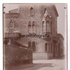 Fotografía antigua: MODERNISMO, POSIBLE CASA DE ANTONI GAUDÍ POR IDENTIFICAR, 1900'S. 18X24 CM.. Lote 148778538