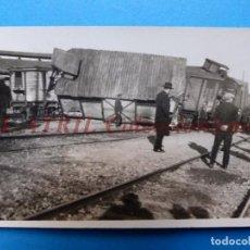 Fotografía antigua: VALENCIA O PROVINCIA - VIAS DEL TREN - AÑOS 1930-40. Lote 148814466