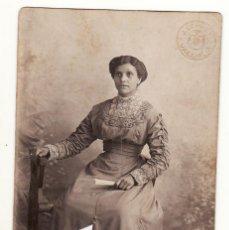 Fotografía antigua: FOTO SEÑORA VESTIDA DE LARGO 1912 VALENCIA FOTO DE REY. Lote 149816582