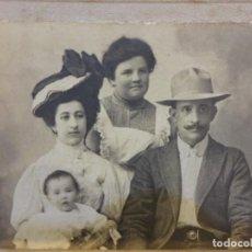 Fotografía antigua: ANTIGUA FOTO ALBUMINA SOBRE CARTON. ESTUDIO SÁNCHEZ. HORTALEZA 68. MADRID. 11 X 9 CTMS.. Lote 150219430