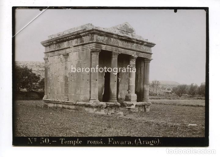 ARAGÓN, TEMPLO ROMANO, EN FAVARA S. II-III D.C 13 X 18 CM. SIN DATOS REVERSOS (Fotografía Antigua - Albúmina)