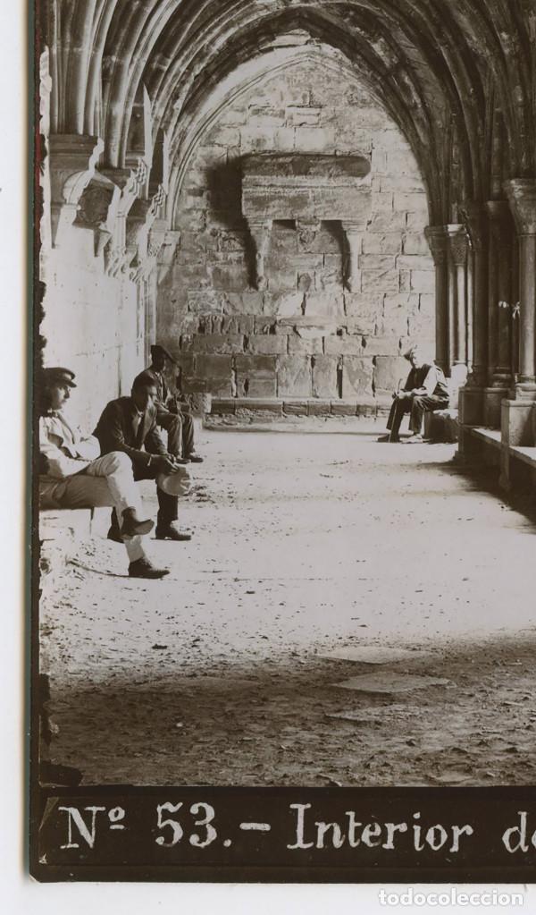 Fotografía antigua: Nº53. INTERIOR DEL CLAUSTRE DE POBLET. 1900 aprox. 13X18 CM. - Foto 2 - 150967114