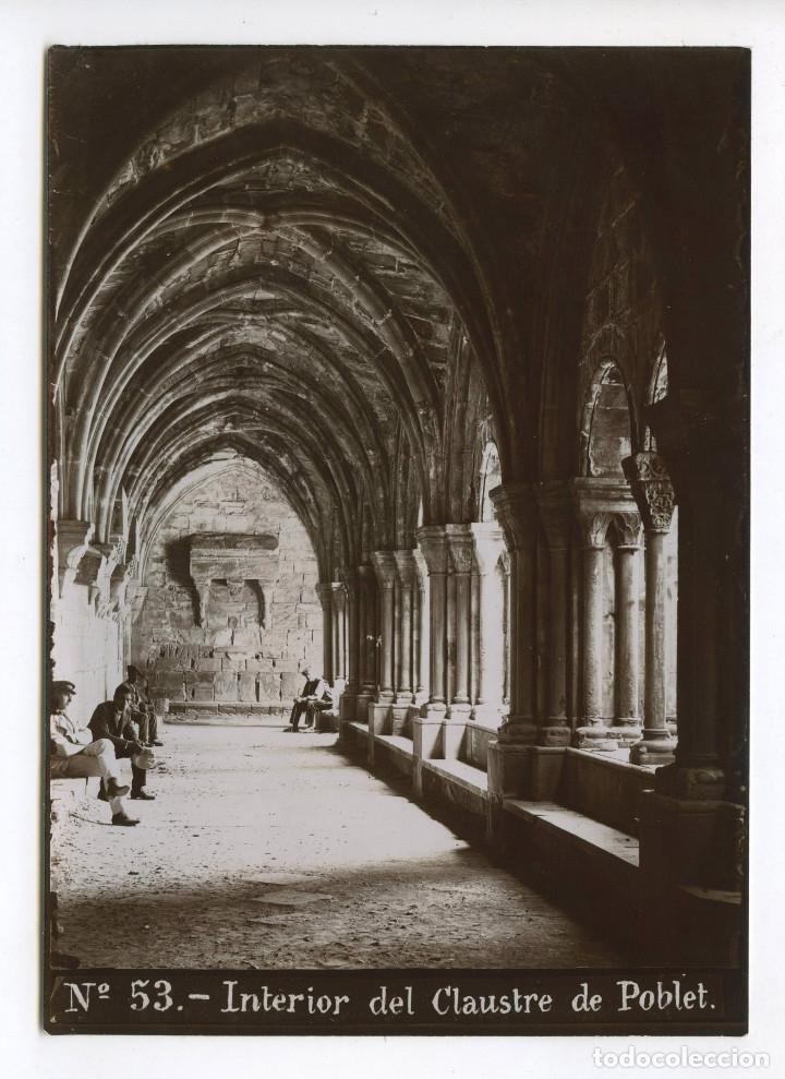 Nº53. INTERIOR DEL CLAUSTRE DE POBLET. 1900 APROX. 13X18 CM. (Fotografía Antigua - Albúmina)