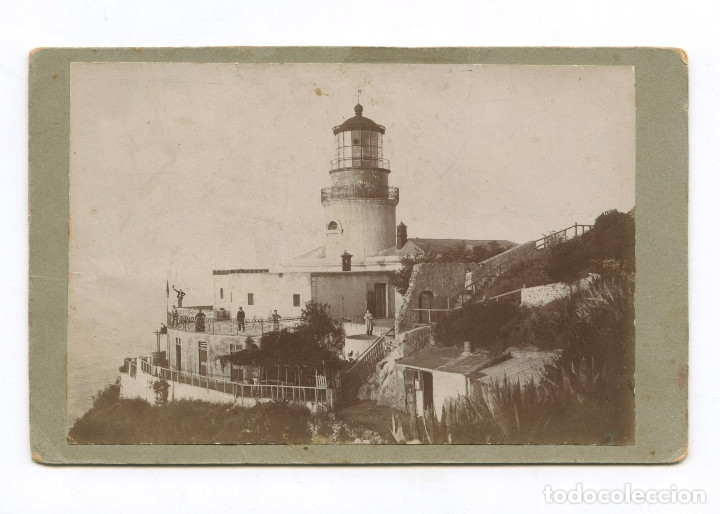 EL FAR DE SANT SEBASTIÀ, COSTA BRAVA - PALAFRUGELL. 1880 APROX. SOPORTE:10,5X17 CM. (Fotografía Antigua - Albúmina)