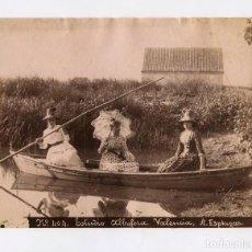 Fotografía antigua: VALENCIA, LA ALBUFERA, Nº404. FOTO: ANTONI ESPLUGAS. 16X21 CM. . Lote 151860930