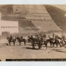 Fotografía antigua: EL GENERAL BLANCO Y ESTADO MAYOR, FOTO: ANTONI ESPLUGAS, BARCELONA. 1870'S APROX. 16,5X21,5 CM.. Lote 151908782