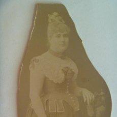 Fotografía antigua: PRECIOSA FOTO DE SEÑORA ALTA SOCIEDAD DEL SIGLO XIX . DE BEAUCHY , SEVILLA. Lote 151914034