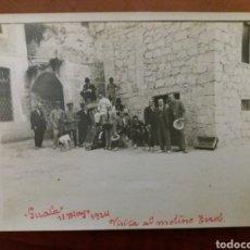 Fotografía antigua: GRUPO DE AMIGOS GUALA IBI ALICANTE, MOLINO TEROL .. Lote 152551114