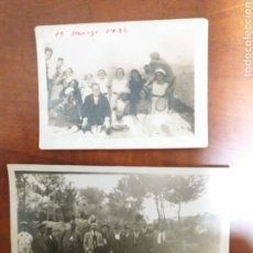 Fotografía antigua: GRUPO DE AMIGOS GUALA IBI ALICANTE, MANANTIAL LA GUITARRA.1924. Lote 152551270