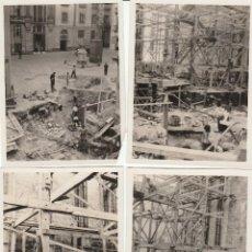 Fotografía antigua: SAN SEBASTIAN 4 FOTOS Y NEGATIVOS PLAZA LASALA EN 1931 CON PUBLICIDAD CASA MARIN. Lote 152554134