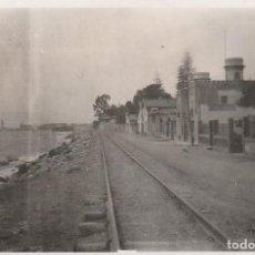 Fotografía antigua: MALAGA FOTOGRAFIA 8,5X6 VIAS FERROCARRIL SOBRE 1940. Lote 152561862