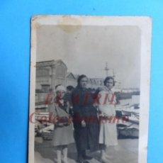 Fotografía antigua: VALENCIA - PUERTO - FOTOGRAFICA - AÑOS 1930-40. Lote 153211442
