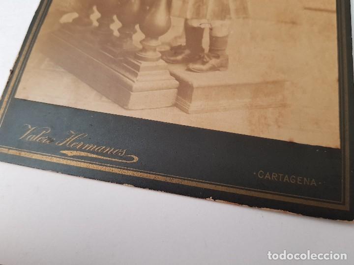 Fotografía antigua: ANTIGUA FOTOGRAFIA ALBUMINA VALERO HERMANOS CARTAGENA MURCIA - Foto 3 - 154250914