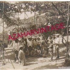 Fotografía antigua: GRANADA, CIRCA 1910, ESCUELAS AVE MARIA, CLASE DE ASTRONOMIA AL AIRE LIBRE,115X85MM. Lote 154256770