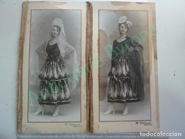 FOTOGRAFÍA DOBLE. KAVLAK. SUSANA VÍCTOR Y MARTÍNEZ DE TEJADA. BAILE CONDESA DE ARCENTALES. 1917 (Fotografía Antigua - Albúmina)