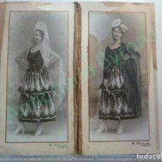 Fotografía antigua: FOTOGRAFÍA DOBLE. KAVLAK. SUSANA VÍCTOR Y MARTÍNEZ DE TEJADA. BAILE CONDESA DE ARCENTALES. 1917. Lote 154265582