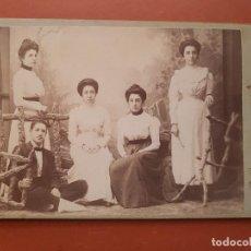 Fotografía antigua: ANTIGUA FOTOGRAFÍA ALBUMINA GRUPO FAMILIAR LOPEZ MURCIA. Lote 154287246
