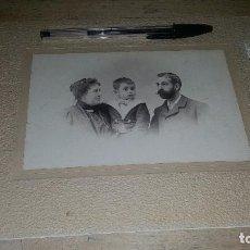 Fotografía antigua: ALBUMINA PEGADA A CARTON DE GRUPO FAMILIAR, GROLLO Y RODRIGUEZ FOT. VALENCIA, DE 24 X 19 CM.. Lote 154741866