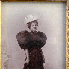 Fotografía antigua: FOTOGRAFÍA ANTIGUA RETRATO DAMA FINALES SIGLO XIX. Lote 154847014